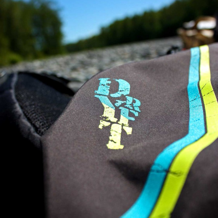 DRYFT waders adrenaline close up