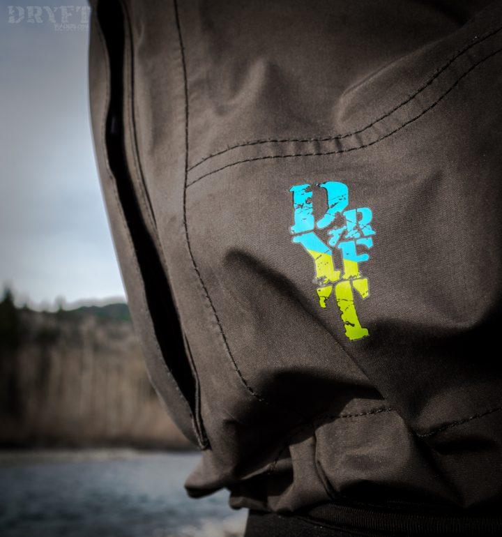 DRYFT Primo wading jacket side logo