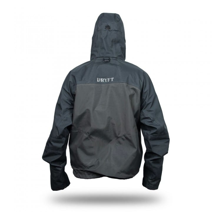 DRYFT Primo wading jacket hood up