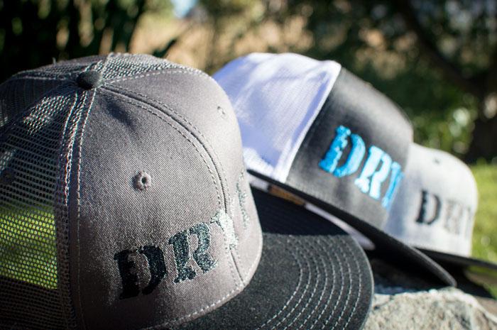 web DRYFT logo hats