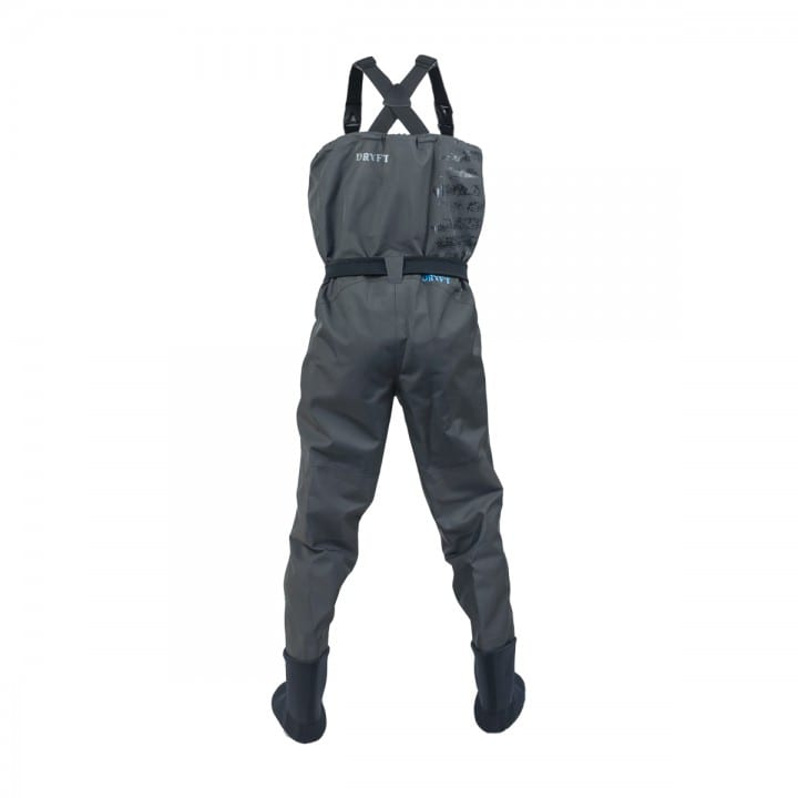 2015 DRYFT Primo zip-front wader back view