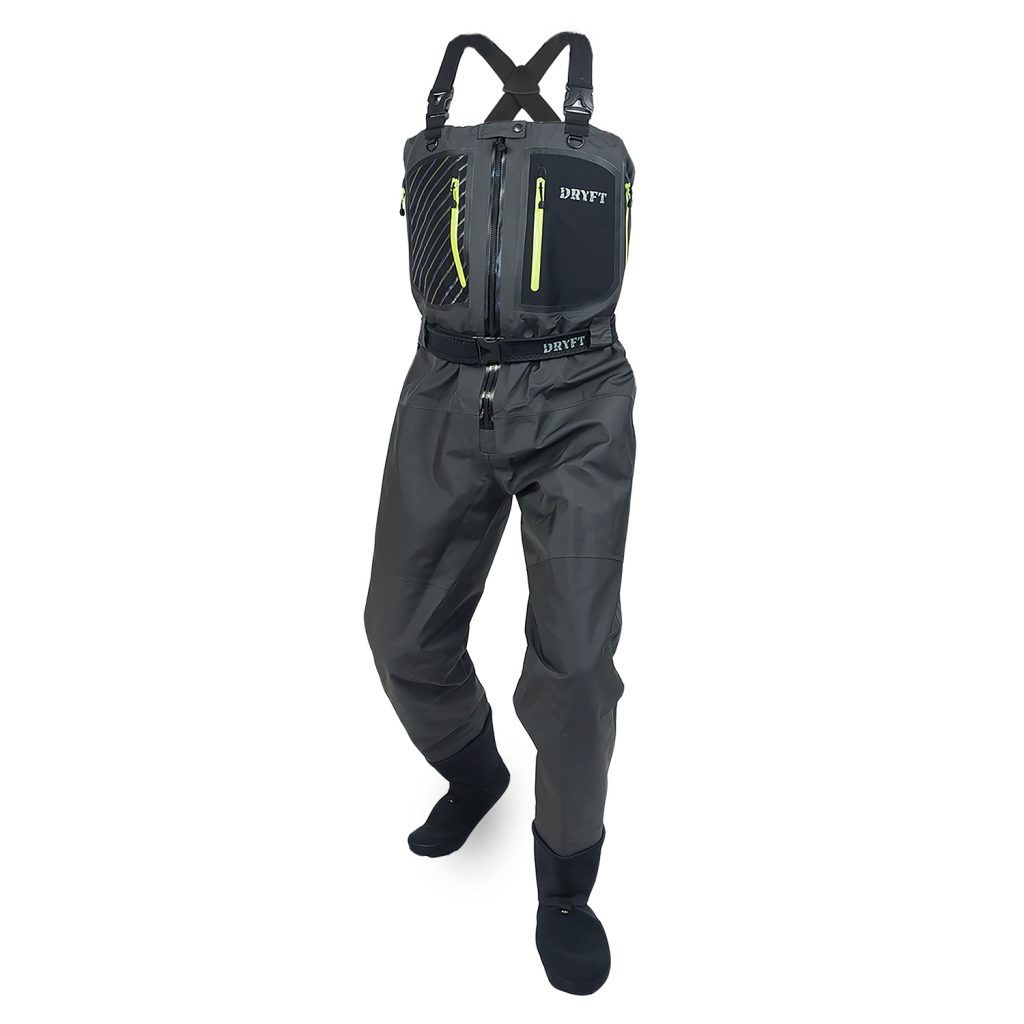 Primo zip front wader dryft fishing waders for Fly fishing waders