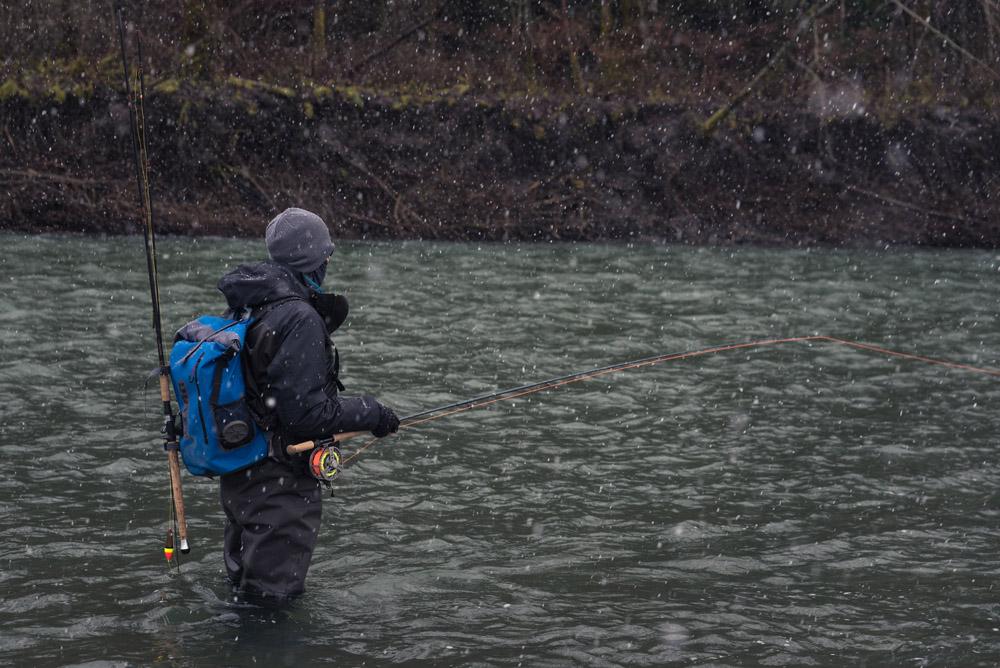 dryft waders winter fishing
