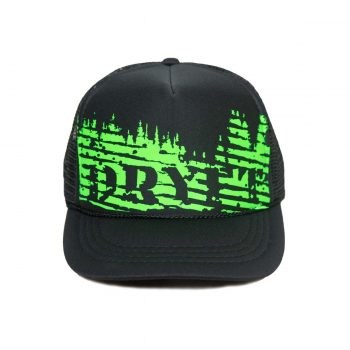 green trees dryft trucker hat